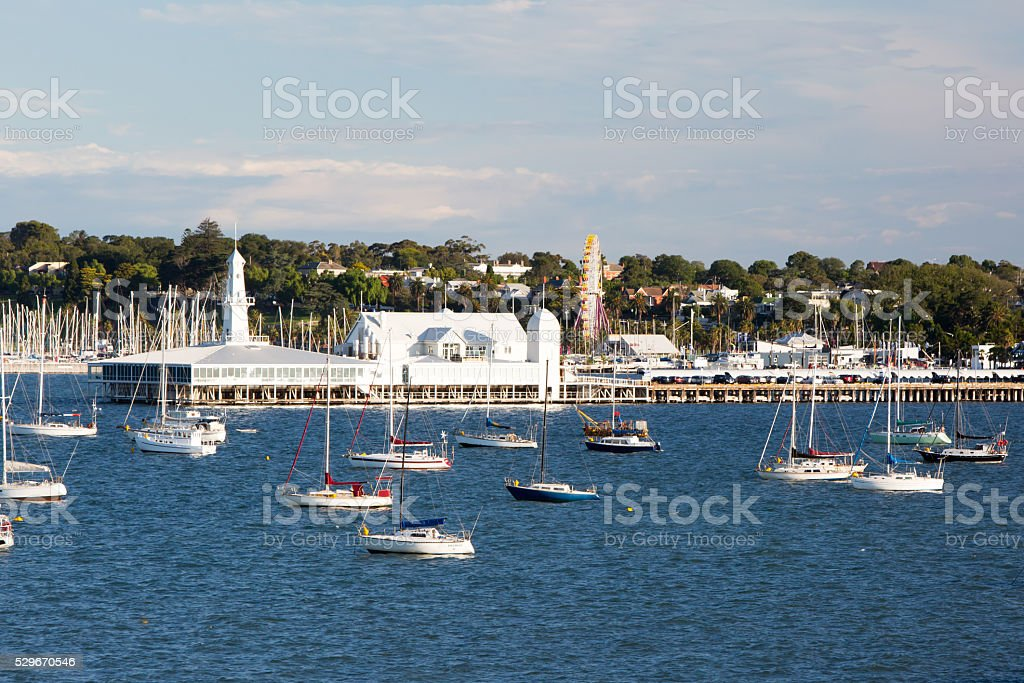 Geelong Waterfront and CBD stock photo