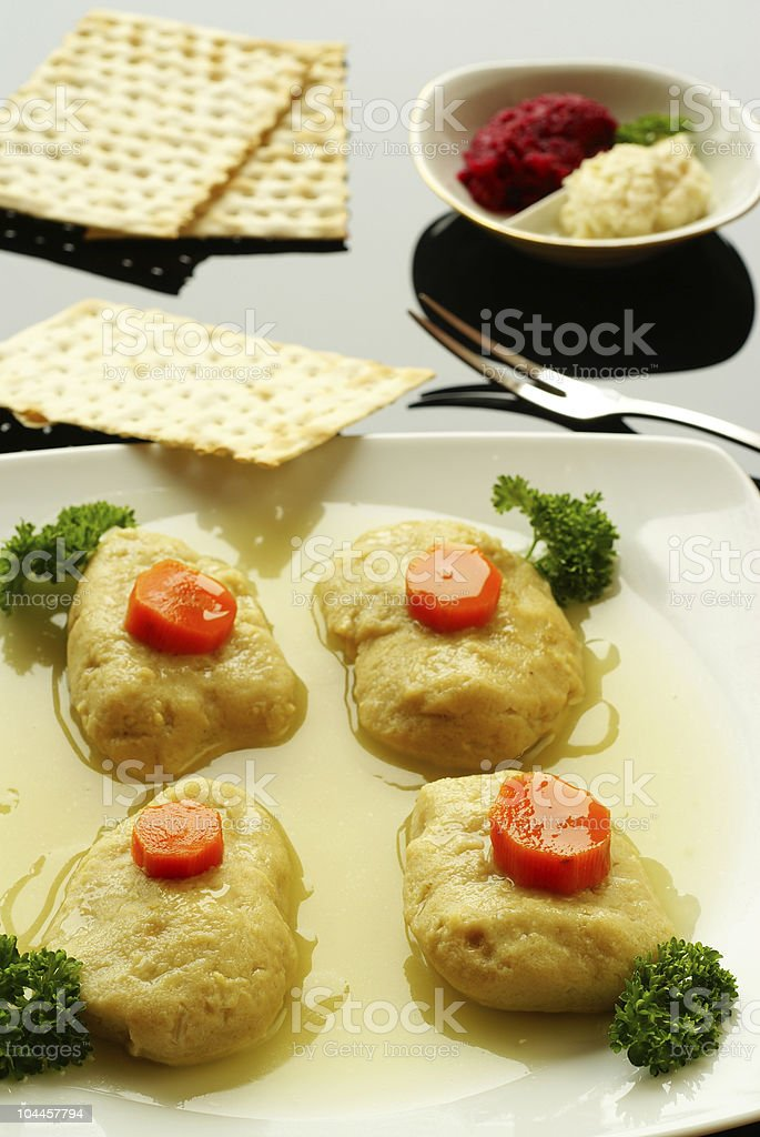 Gefilte fish stock photo