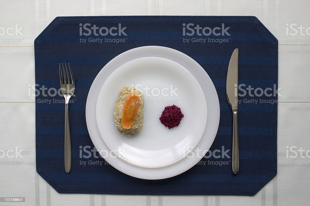 Gefilte fish royalty-free stock photo