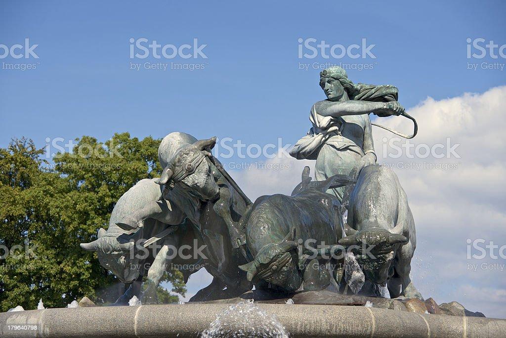 Gefion fountain, Copenhagen stock photo