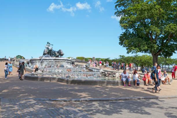 Gefion Fountain in Copenhagen stock photo