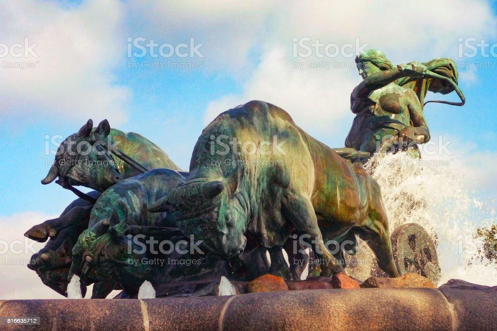 Gefion Fountain, Kastellet stock photo