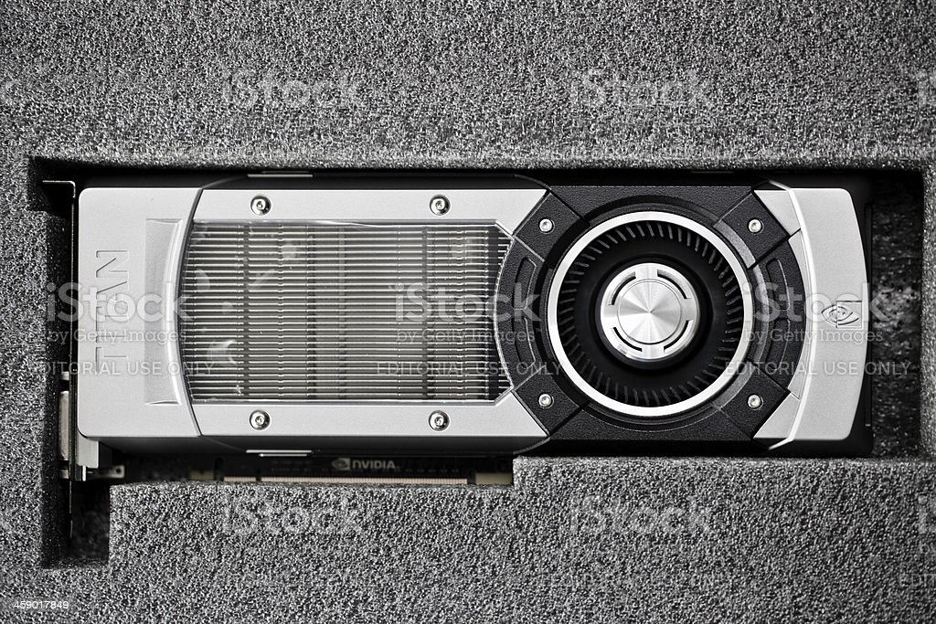 NVIDIA GeForce GTX TITAN stock photo