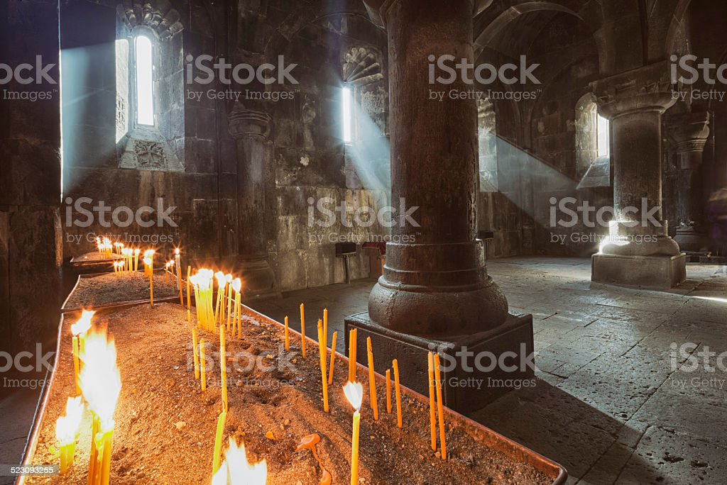 Geghard Monastery, Armenia stock photo