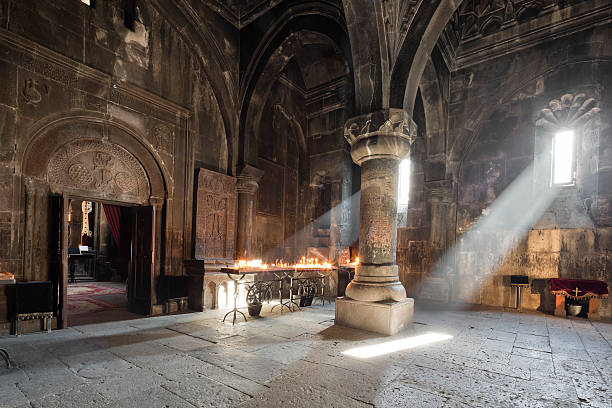 Geghard Monastery, Armenia The monastery of Geghard is a 4th century building in the Kotayk province of Armenia. monastery stock pictures, royalty-free photos & images