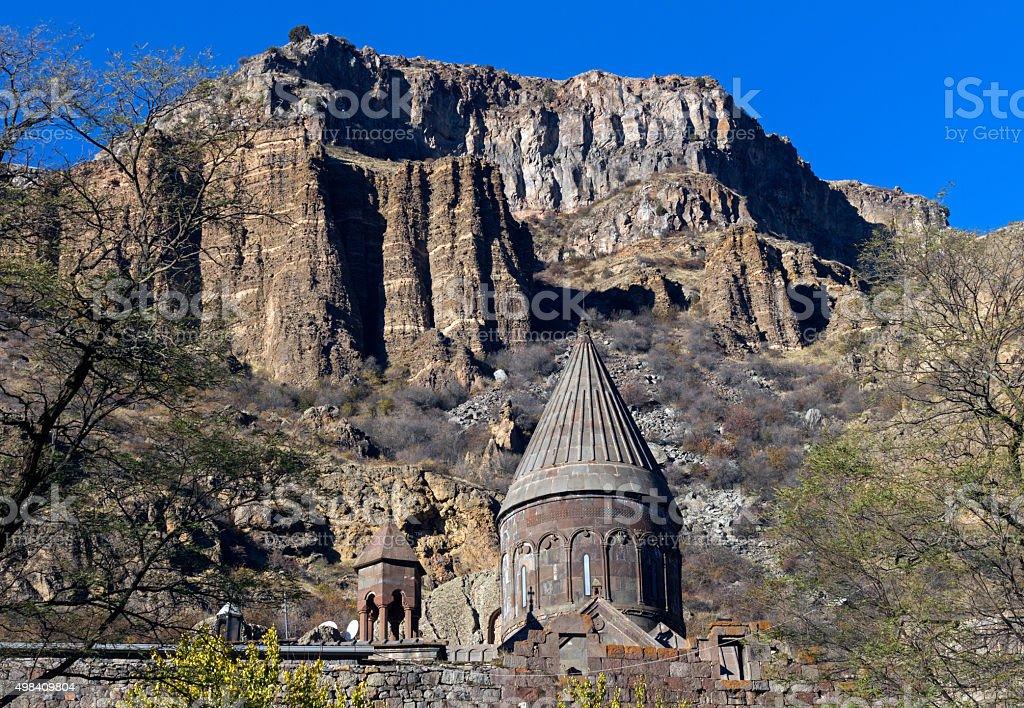 Geghard monastery in Armenia stock photo