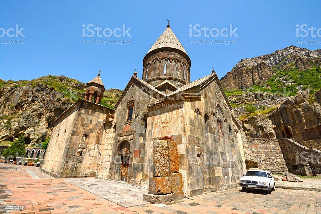 Geghard Monastery stock photo