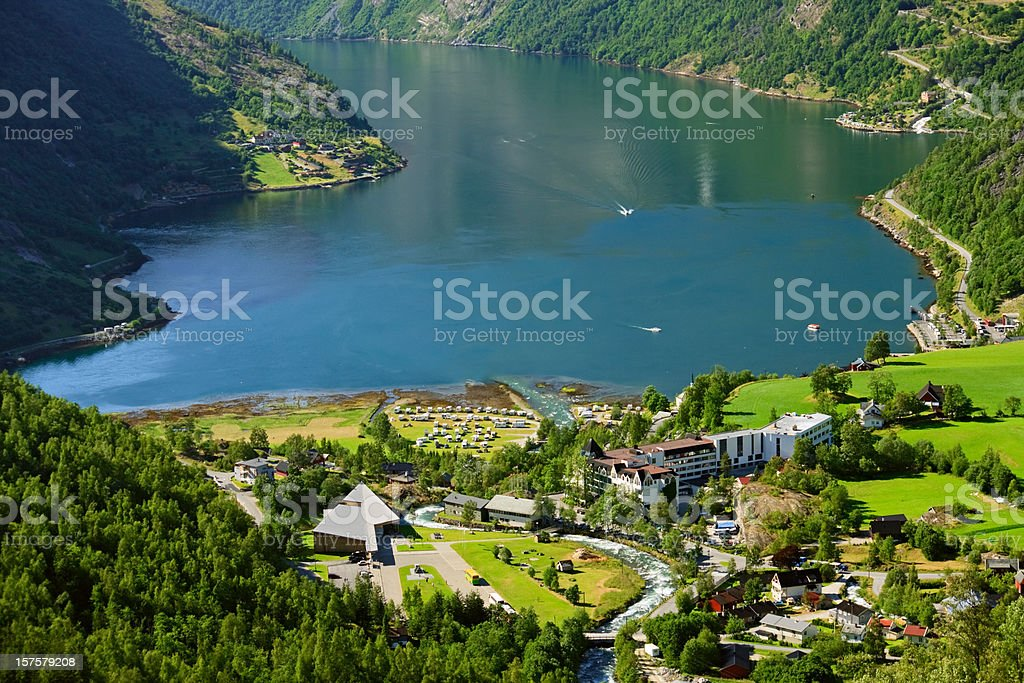 Geiranger Fjord, Norway royalty-free stock photo