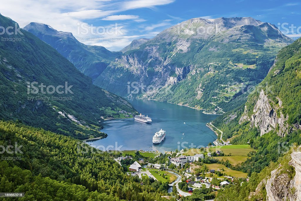 Geiranger Fjord, Norway royalty-free stock photo