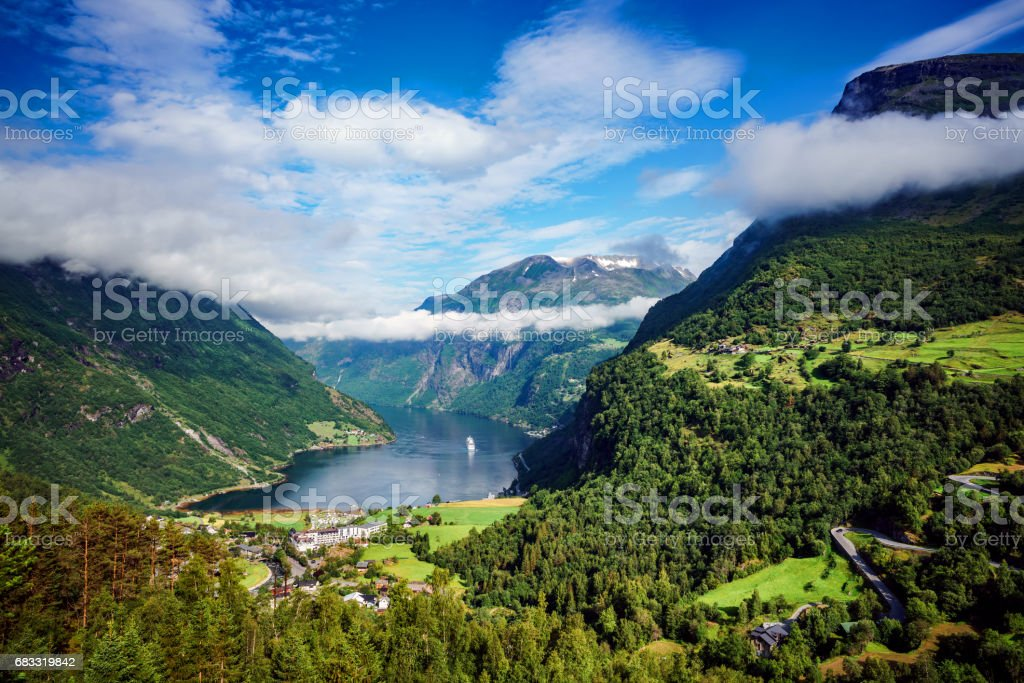 Geiranger fjord, Norway. foto stock royalty-free
