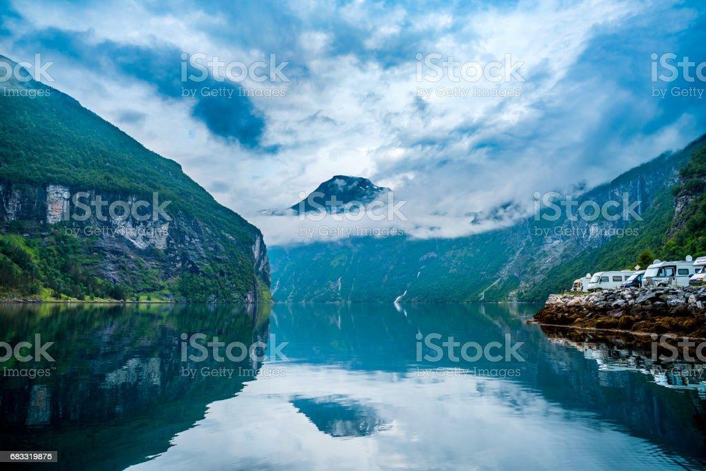 Geiranger fjord, Norway. foto stock royalty-free