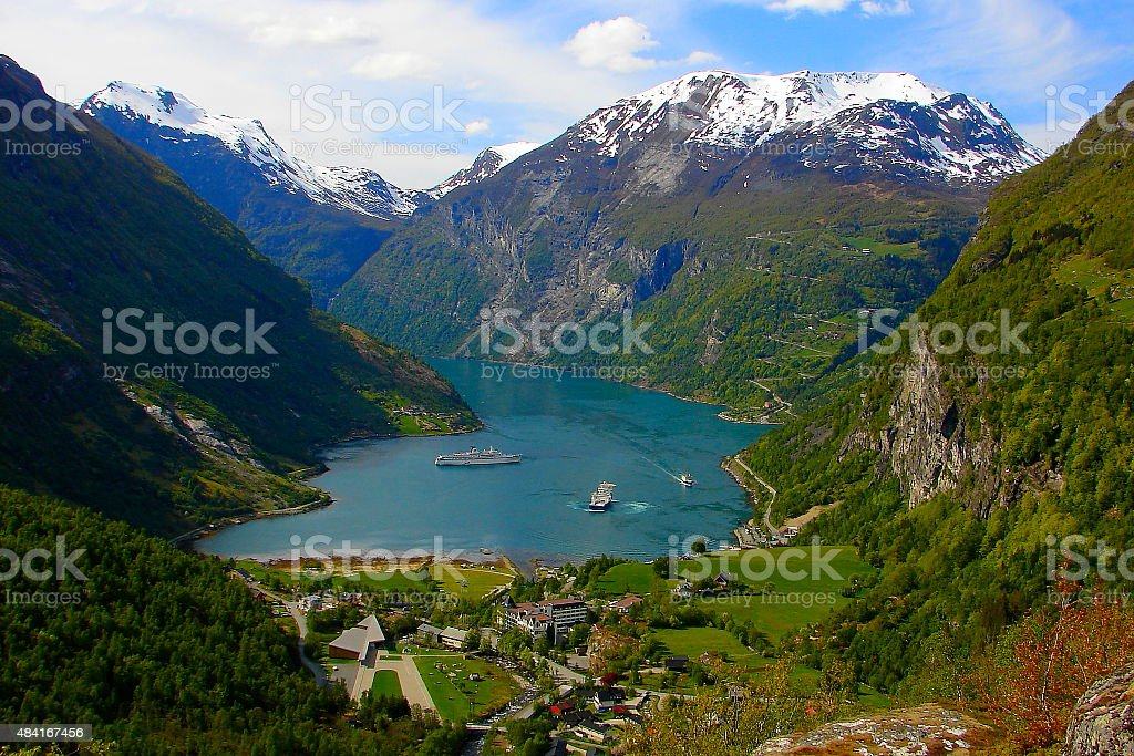 Geiranger fjord paradise, Unesco, Norway - Scandinavia stock photo
