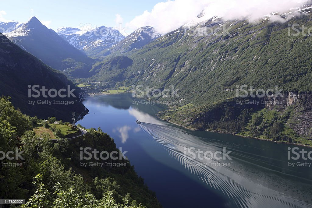 Geiranger Fjord royalty-free stock photo