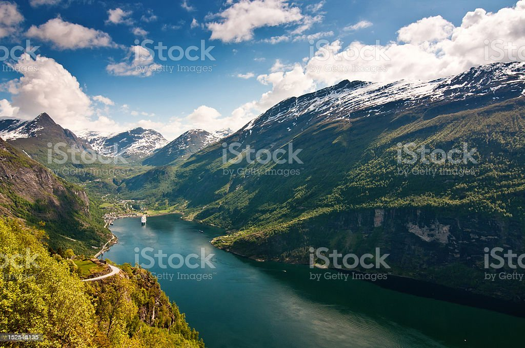 Geiranger Fjord (Norway) stock photo