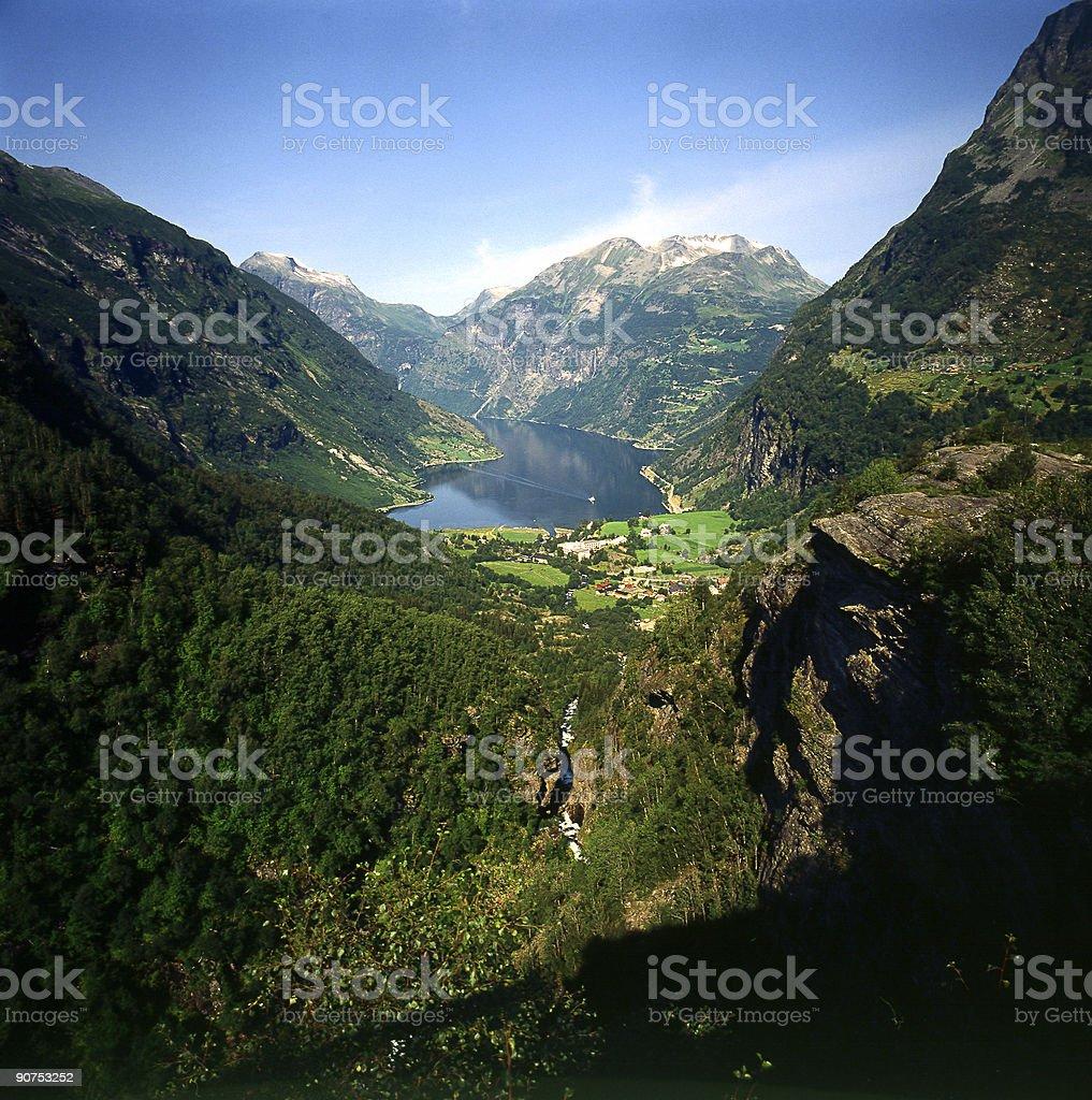 Geiranger Fjord royalty-free stock photo
