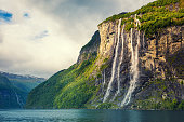 istock Geiranger fjord. Seven Sisters Waterfall, Norway 619533280