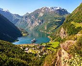 istock Geiranger fjord view, Norway 507259938