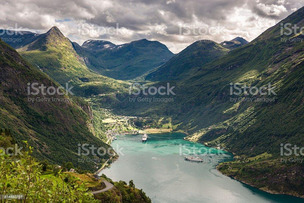 Geirangerfjord stock photo