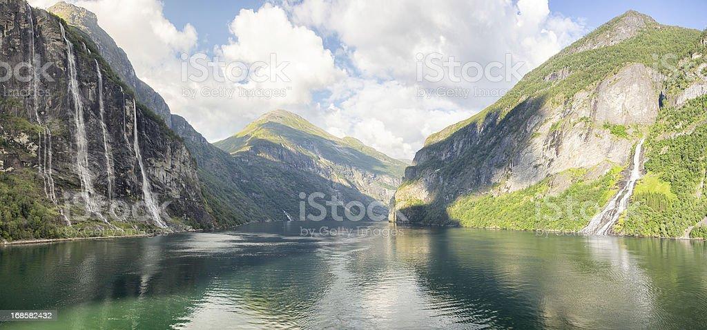 Geirangerfjorde, Norway stock photo
