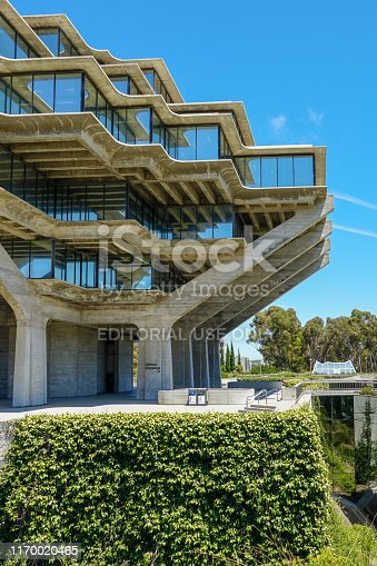 Geisel Library is the main library building of the University of California San Diego Library. It is named in honor of Audrey and Theodor Seuss Geisel. USA.