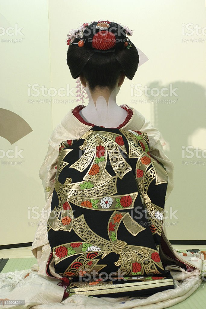 Geisha, maiko performance royalty-free stock photo