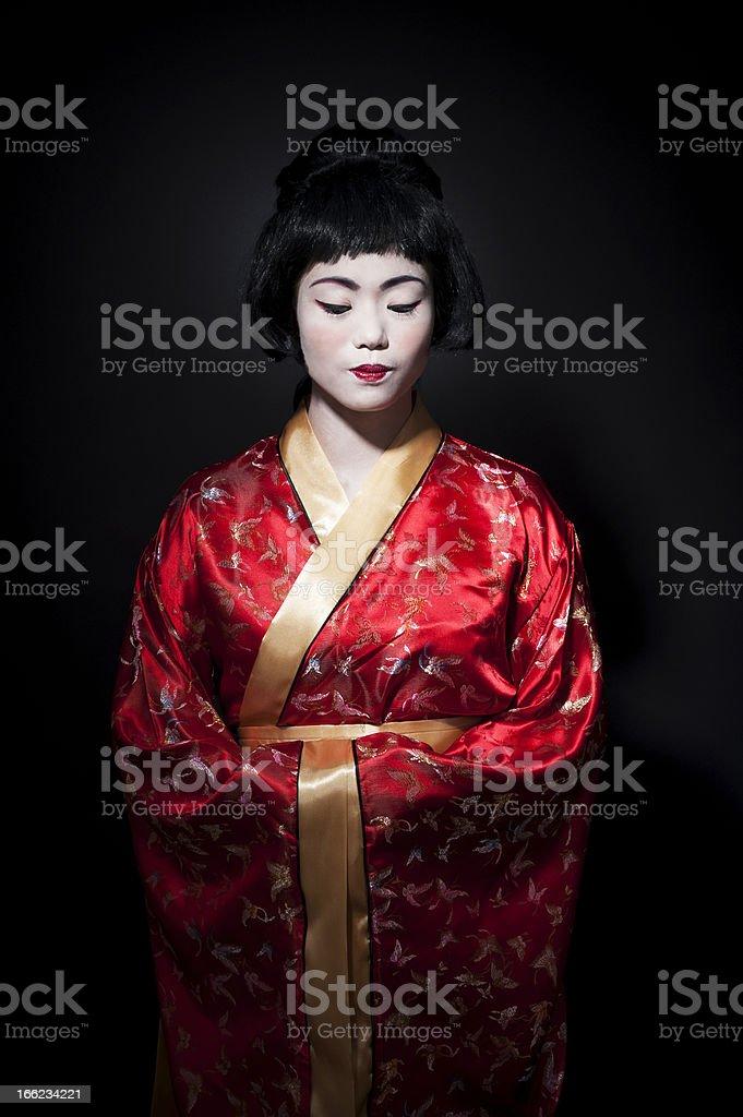 Geisha style portrait royalty-free stock photo