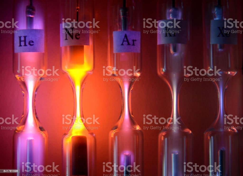 Geissler Tubes stock photo