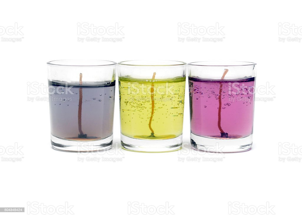 Gel Candles stock photo