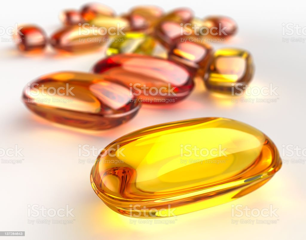 Gel capsule pill royalty-free stock photo