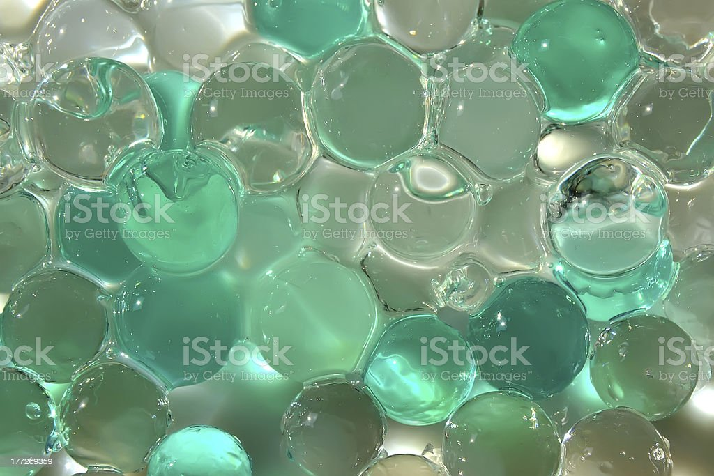Gel crystal balls stock photo