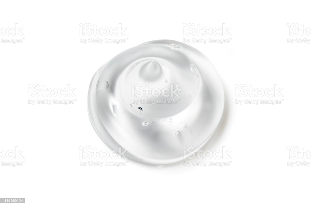 Gel isolated on white Close up Gel Close-up stock photo