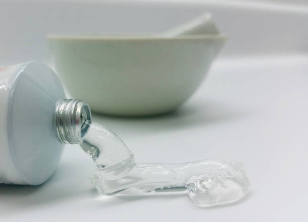 gel tube and mortar - pharmaceutical compounding stock photos and pictures