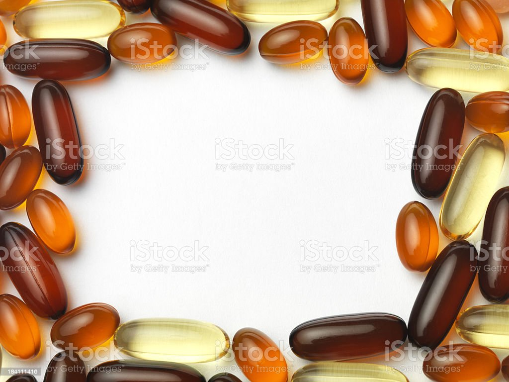 gel vitamin border royalty-free stock photo