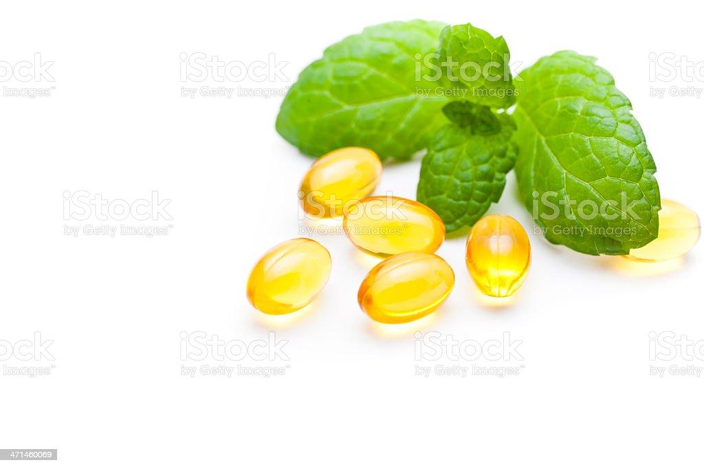 gel vitamin capsules stock photo