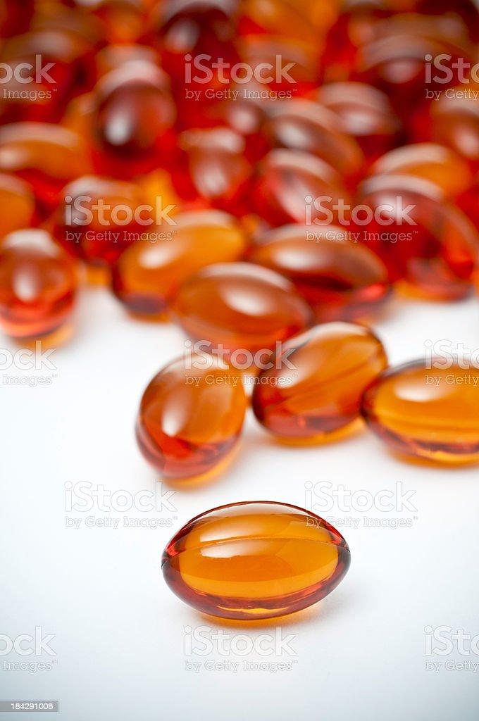 gel vitamin pills royalty-free stock photo