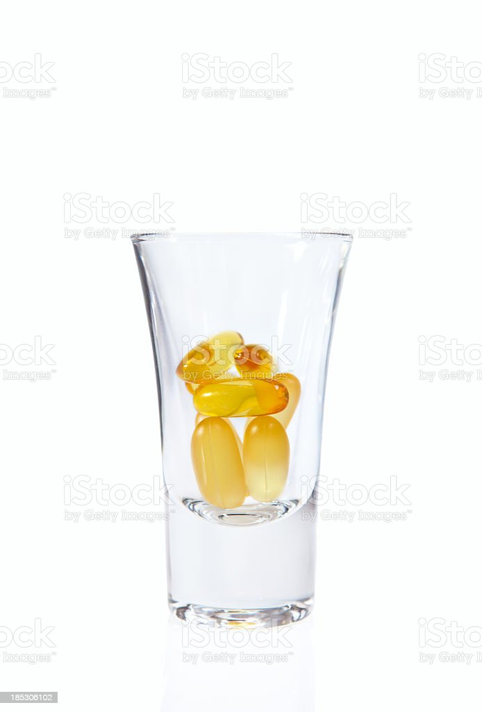 Gel vitamin supplement capsules royalty-free stock photo