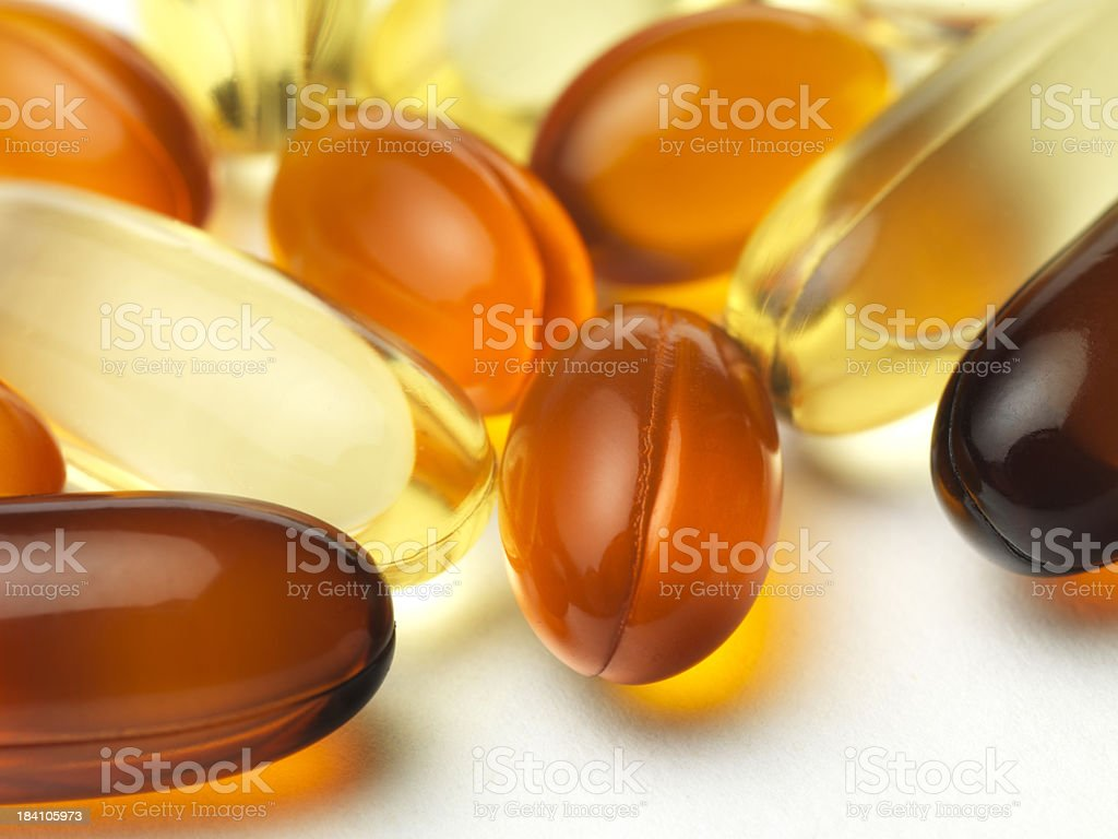 gel vitamin supplements royalty-free stock photo