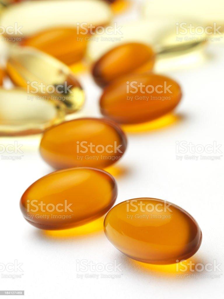 gel vitamin supplements royalty-free stock photo