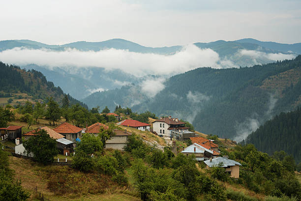 Gela village after the rain, Rhodope mountain, Bulgaria stock photo