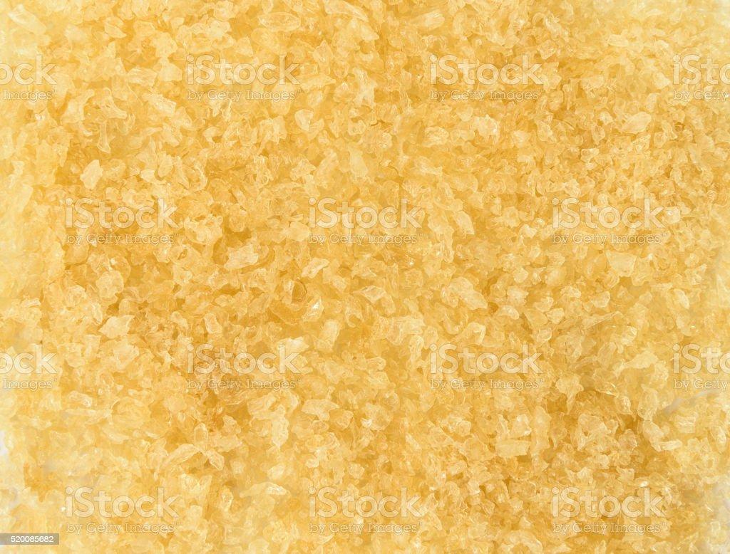 Gelatin granules crystals stock photo