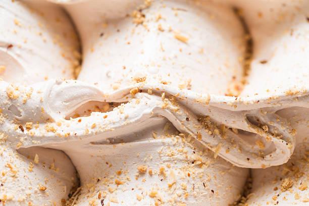 Gelato - detail of a walnut Ice cream.