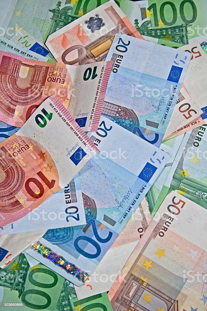 Geld Haufen stock photo