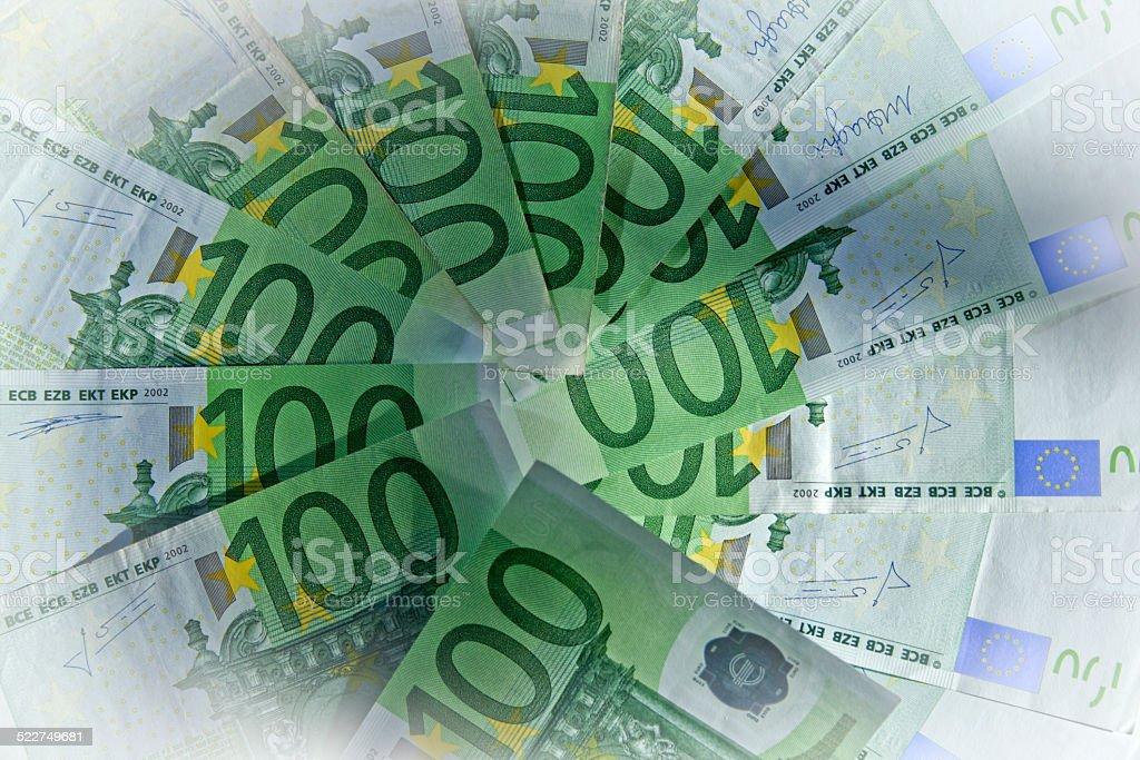 Geld Scheine 100 Euro stock photo