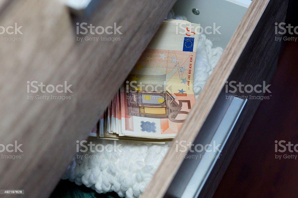 Geld Schublade stock photo