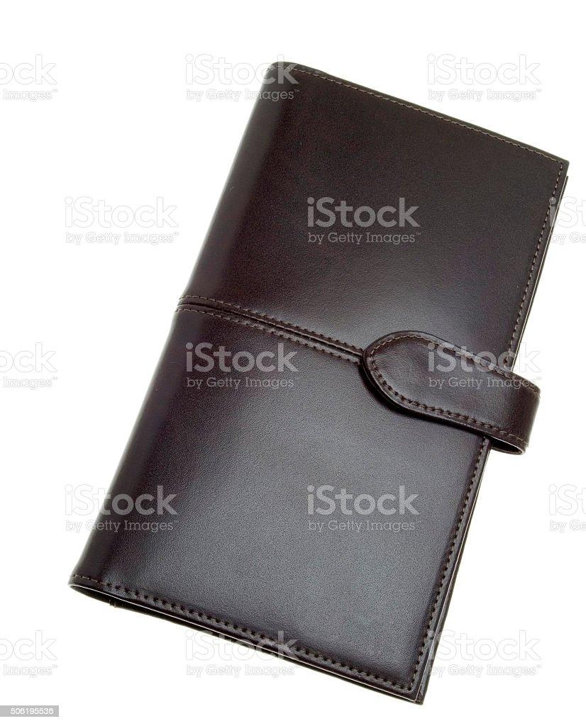 Geldbörse aus Leder stock photo