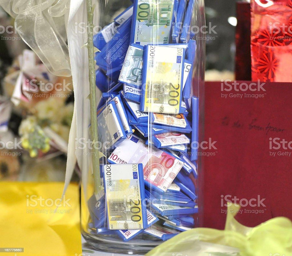 Geldgeschenk für Hochzeit royalty-free stock photo