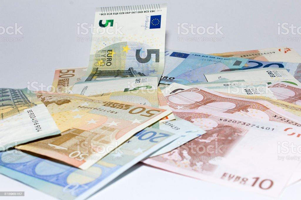 Geldscheinhaufen stock photo