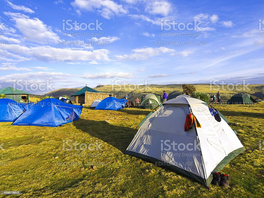 Gelhe camp royalty-free stock photo