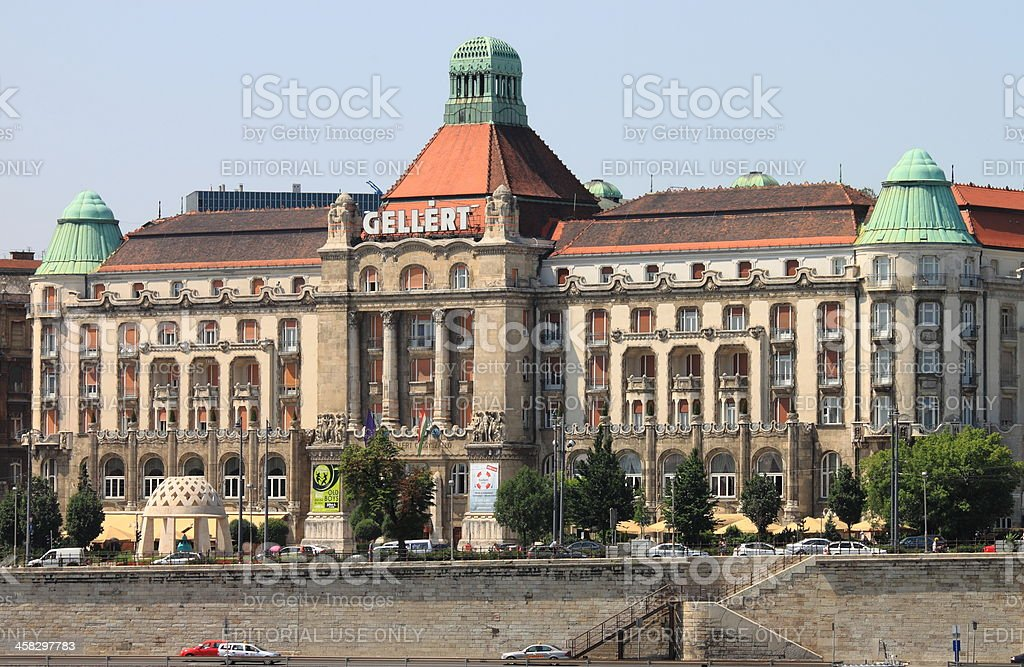 Gellert Hotel Palace in Budapest stock photo