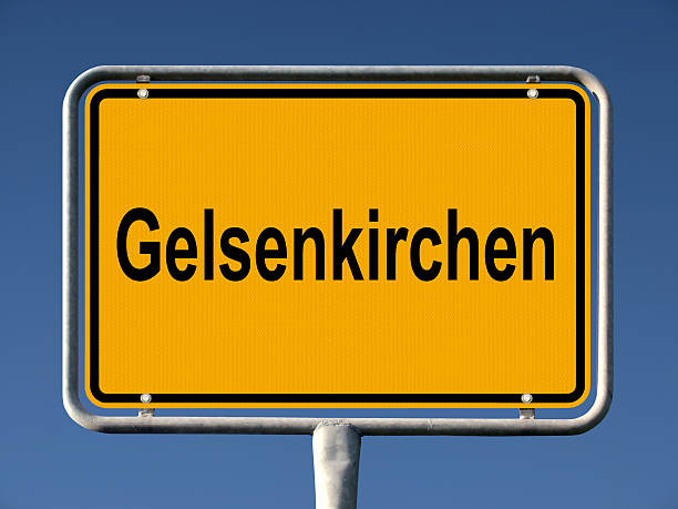 gelsenkirchen ortsschild - place sign stock pictures, royalty-free photos & images